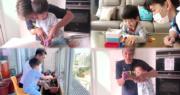 黎諾懿雖然每次開工拍劇都會忙得幾乎連休息的時間也沒有,但他無論如何都會盡量抽時間陪伴兒子小春雞。這位星級爸爸,除了陪孩子玩遊戲,更會和兒子一齊整麵包、一齊種花,讓孩子能從中學習。(黎諾懿Instagram片段截圖 /  明報製圖)
