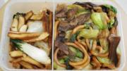 Green Monday帶飯2食譜:牛肝菌青江菜煮上海麵+豆乾炒白菜 清熱減少上火