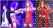 三浦春馬反串演出舞台劇《Kinky Boots》,與小池徹平(左)一起載歌載舞。(網上圖片)