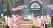 10位港姐穿上晚裝出場,並於這個舞台上爭奪獎項。(鍾偉茵攝)