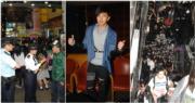 黃鴻升於2010年在旺角信和中心舉行簽名會,因為太多粉絲而遭警方勸止,後來改到酒店舉行臨時記者會。(資料圖片/明報製圖)