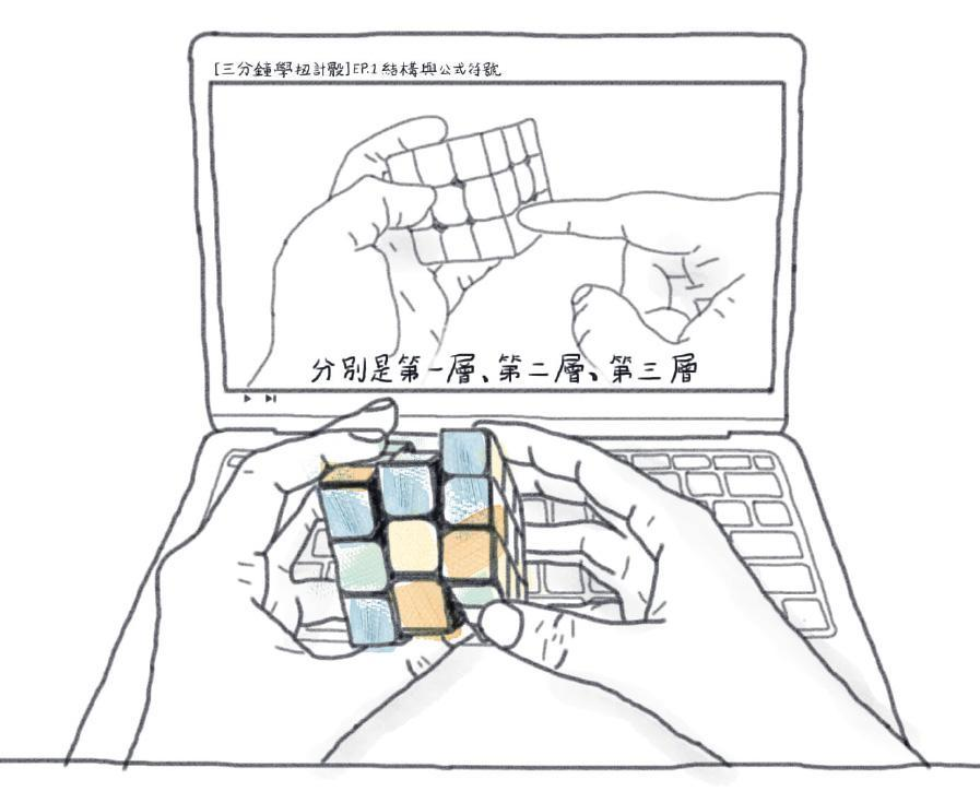 網學時代:睇片學玩扭計骰 扭了一天學識