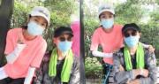 米雪相約老友劉松仁一齊行山,親親大自然。(Instagram圖片)