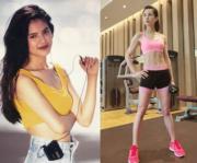 李若彤早前在微博曬陳年廣告照,當年的她青春逼人,不過現時她的身材更弗過以前。(微博圖片)