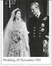 1947年11月20日,英女王(時為伊利沙伯公主)與菲臘王子舉行婚禮。(Royal Mail Instagram圖片)