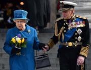 2015年3月,英女王伊利沙伯二世與王夫菲臘親王(法新社)