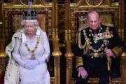 2015年5月27日,英女王伊利沙伯二世與王夫菲臘親王(法新社)