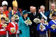 2017年4月,英女王伊利沙伯二世與王夫菲臘親王(法新社)