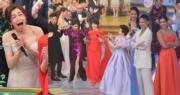 《萬千星輝賀台慶》藝人在鏡頭前落力表演。(鍾偉茵攝)