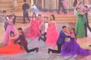新生代藝員打頭陣跳舞表演。(鍾偉茵攝)