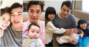 黃祥興今年1月底第三度當爸爸。(網上圖片/資料圖片/明報製圖)