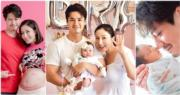 楊茜堯為老公羅子溢順利誕下女兒小珍珠。(網上圖片/資料圖片/明報製圖)