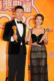 王浩信和蔡思貝憑《踩過界II》成為今屆視帝視后。(資料圖片)