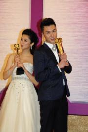 王浩信曾和岑麗香奪飛躍進步男、女藝員。(資料圖片)