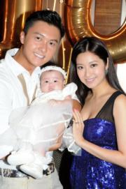 浩信和陳自瑤婚後育有一女。(資料圖片)