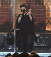 林二汶大熱奪年度女歌手金獎。(鍾偉茵攝)