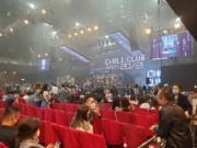 ViuTV在疫情下舉行首個招待觀眾入場的音樂頒獎禮。(鍾偉茵攝)
