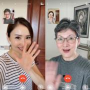 身在內地隔離的陳貝兒,和陳媽媽以視像方式慶祝母親節。(Ig圖片)
