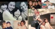 馬詩慧在社交網貼了多張和3名仔女的舊照,相當幸福。(Ig圖片)