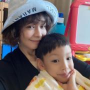 徐若瑄和囝囝合照。(Ig圖片)