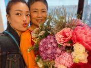 容祖兒送花給容媽媽,果然孝順。(Ig圖片)