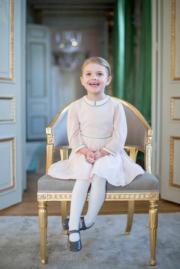 4歲的愛絲黛小公主(Princess Estelle) (kungahuset facebook圖片)