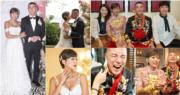 洪永城與梁諾妍的婚禮開心又甜蜜。(鍾偉茵攝/大會提供/明報製圖)