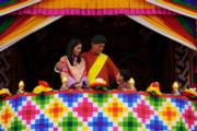 2021年8月19日,不丹國王基沙爾、王后佩馬及小王儲出席活動。(Jetsun Pema facebook圖片)