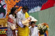 2020年6月30日,左起:不丹王后佩馬、國王基沙爾、二王子及小王儲。(His Majesty King Jigme Khesar Namgyel Wangchuck facebook圖片)