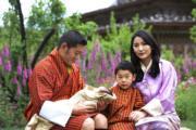2020年5月29日,左起:不丹國王基沙爾、二王子、小王儲、王后佩馬。(His Majesty King Jigme Khesar Namgyel Wangchuck facebook圖片)