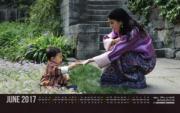 不丹王后佩馬(右)與小王儲Jigme Namgyel Wangchuck(左)(不丹王室網站圖片)