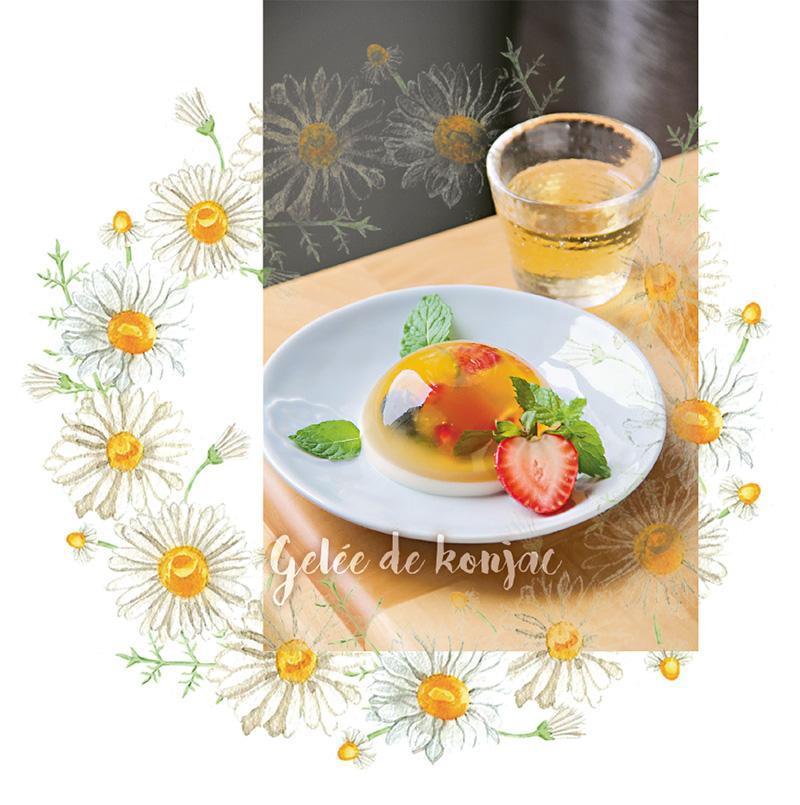 另一個胃:秋月夜,一杯果香透心涼 水果花茶蒟蒻月餅