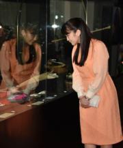 2019年7月16日,真子公主訪問玻利維亞,在首都拉巴斯參觀國家民族和民俗博物館。(法新社)