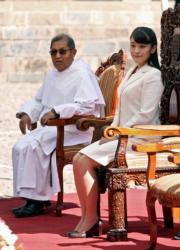 2019年7月14日,真子公主(右)訪問秘魯。(法新社)
