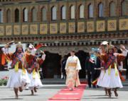 2017年6月,日本公主真子到訪不丹。(法新社)
