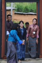 2017年6月,日本真子公主到訪不丹。(法新社)