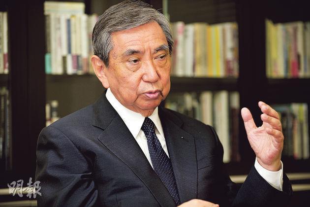 日本眾議院前議長河野洋平認為,日本的歷史認識應該繼承村山講話,「在歷史問題上,安倍總理的發言應該更加慎重」。(余俊亮攝)