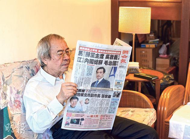 政論家南方朔批評馬英九團隊不懂經濟,想將台灣「香港化」。(陳淑安攝)