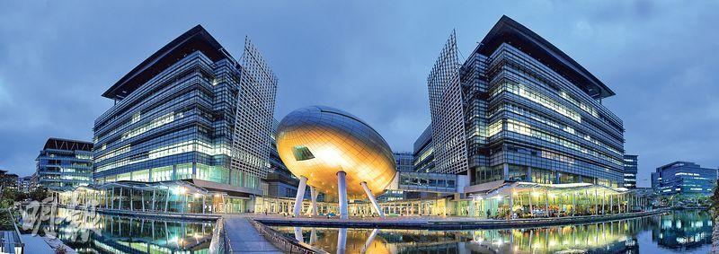 位於大埔的香港科學園佔地22公頃,現有約340間創新科技企業進駐,正展開第3期擴建工程。(林俊源攝)