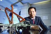 中聯重科副總裁孫昌軍認為,工程機械企業未來的「黃金十年」機會在海外。(林俊源攝)