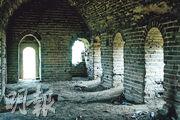 老婆山上殘存的二道邊長城炮樓,當年曾是中日雙方攻防的主要陣地。(鄭海龍攝)