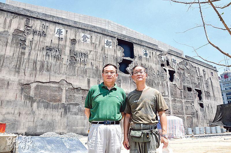 四行倉庫原經理呂傳良(左)、「918愛國網」總編輯吳祖康(右)