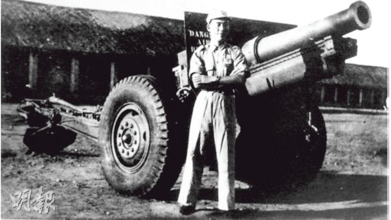 郝柏村在抗戰期間曾經擔任國軍炮兵連長。(網上圖片)