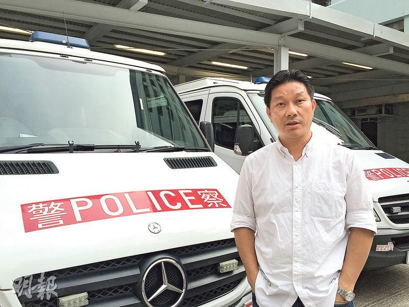 香港警察員佐級協會主席陳祖光(圖)說,處理遊行集會只是警務工作的其中一個「板塊」,觀察所見過去一年警民關係整體「變化不太大」。(曾錦雯攝)