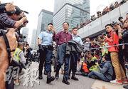 金鐘清場被捕者:警未跟進