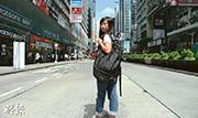 城市大學學生袁嘉蔚(Tiffany),去年6月堅持參與反東北發展集會,與母親鬧翻,離家逾一年,她時常反省是否有盡女兒責任,最想向母親說聲「對不起」。(鍾林枝攝)