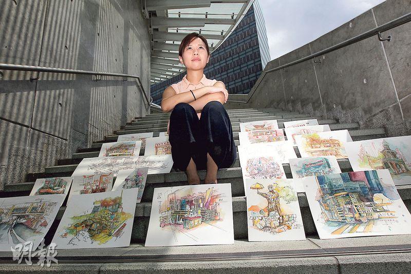 記錄佔領 看淡得失 少女畫家夢再飛 為香港寫生