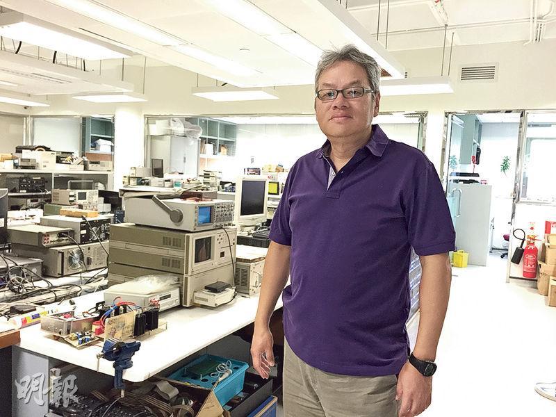 理工大學電子及資訊工程系高級講師周海林稱,香港沒有工業機械人的市場需求,港商很少資助大學做科研。(楊立贇攝)