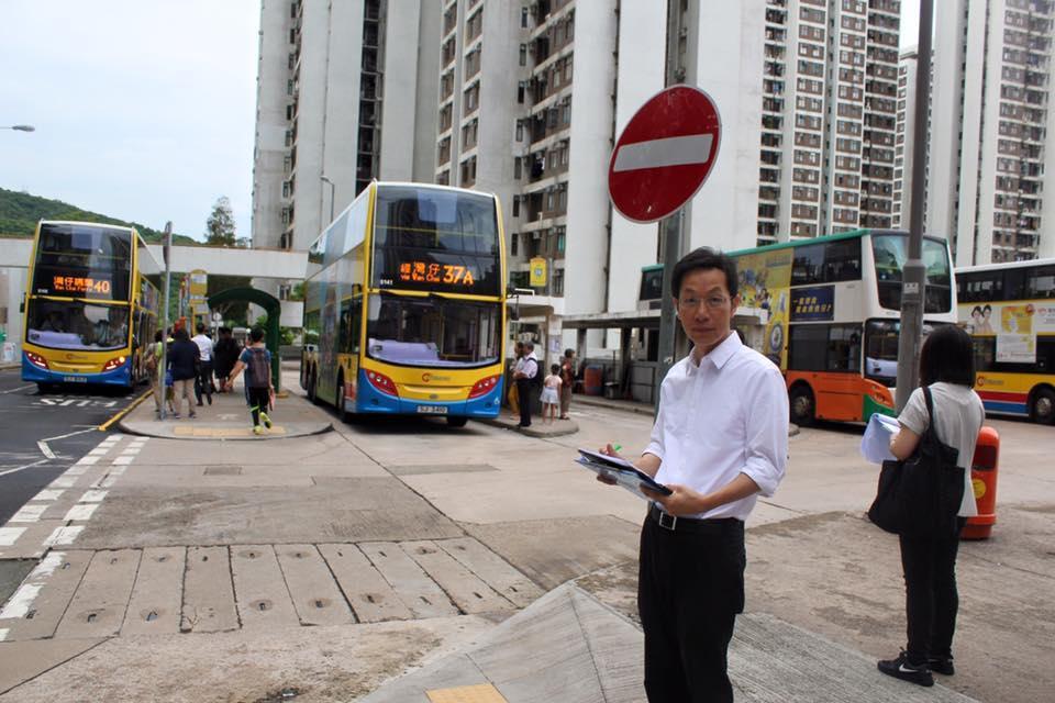 朱慶虹關注地區的交通問題。(網上圖片)