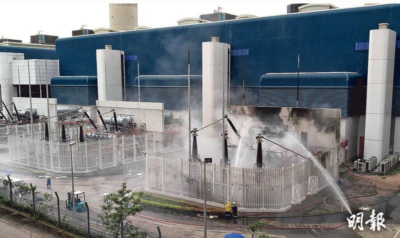 雷擊電廠 組件彈地着火 同時間多區電壓驟降 逾百宗困𨋢